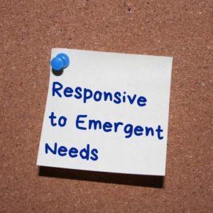 Responsive to Emergent Needs